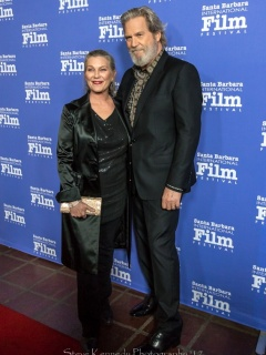 Jeff and Susan Bridges on the Red Carpet at the SBIFF American Riviera Awards